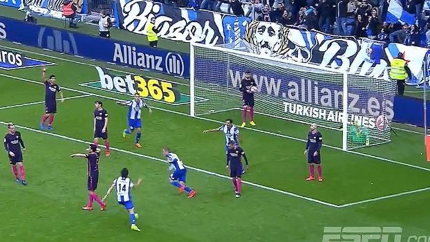 Tempo real: GOL do Deportivo la Coruña! Em cobrança de escanteio, Bergantiños consegue cabeceio e desempata partida