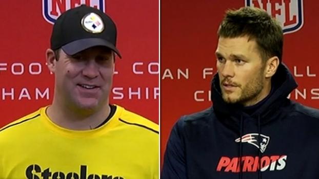 Brady fala em focar no trabalho; Big Ben brinca: 'Dois velhos jogando por longo tempo'