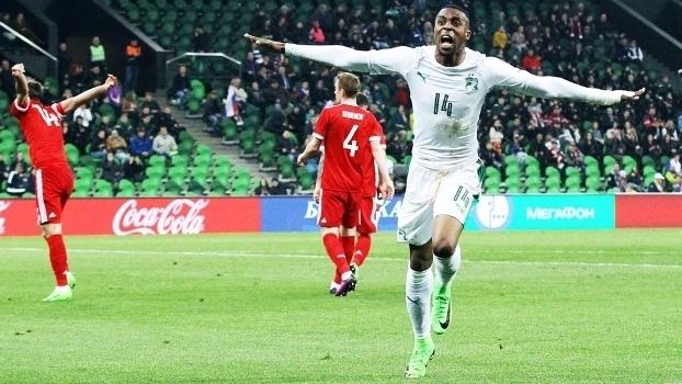 Assista aos gols da vitória da Costa do Marfim sobre a Rússia por 2 a 0
