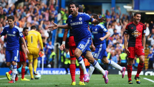 Matador, Diego Costa fez 'hat-trick' na virada do Chelsea sobre o Swansea em 2014