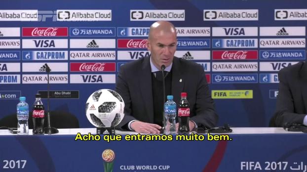 Zidane se diz feliz por mais um título e elogia partida do Real Madrid