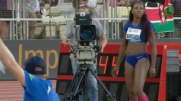 Campeã olímpica, Caterine Ibarguen repete boa forma e vence em Lausanne