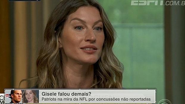 Gisele Bundchen falou demais? ESPN League debate sobre possíveis concussões de Tom Brady
