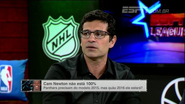 Comentaristas do 'ESPN League' avaliam retorno de Cam Newton após lesão e Paulo Antunes analisa mudança no estilo