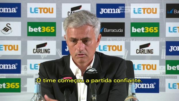 Mourinho destaca confiança do United, mas mantém 'pés no chão': 'Duas partidas não são o paraíso para quem vence'