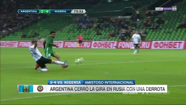 Que pintura! Nigeriano dá caneta humilhante em Mascherano e faz 4º gol da seleção