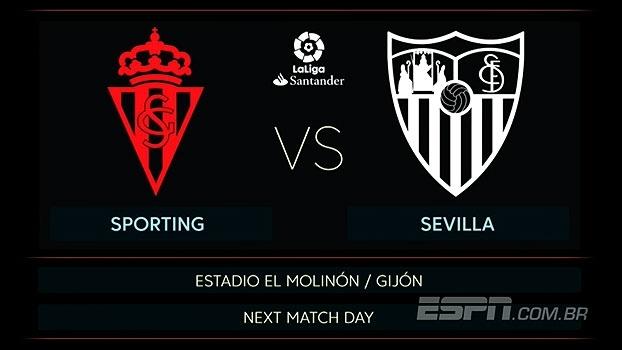 Não perca! Sporting Gijón e Sevilla se enfrentam neste sábado, às 08h55, na ESPN Brasil