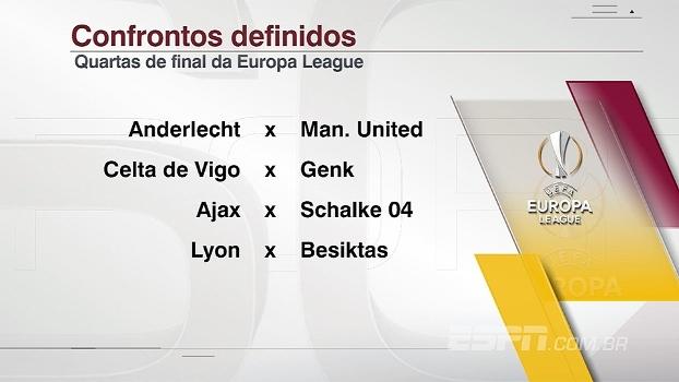 Veja como ficaram os confrontos das quartas de final da Champions e da Europa League