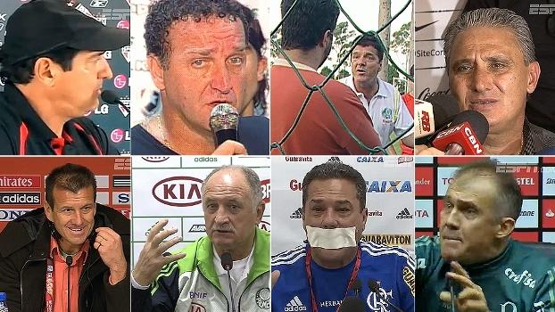 De repórter dorminhoco a 'pofexô' mudo; relembre 10 grandes 'estouros' de técnicos no futebol