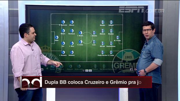 Arrascaeta disponível e velocidade de Pedro Rocha: Dupla BB analisa opções de Cruzeiro e Grêmio