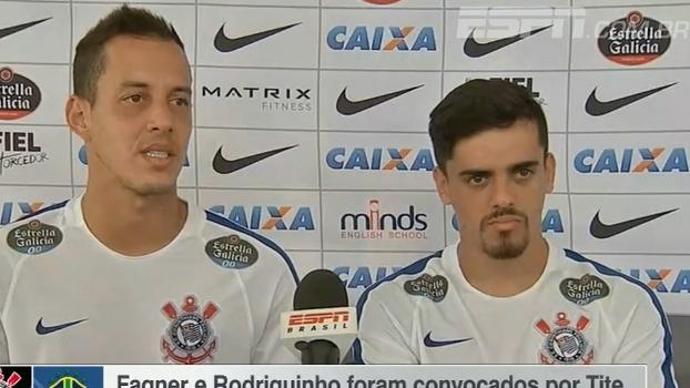 Convocados, Fagner e Rodriguinho comentam oportunidade na seleção brasileira