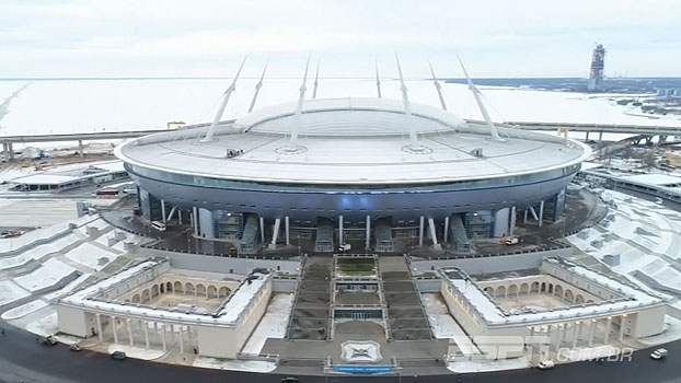 Veja as imagens do Estádio Krestovsky, nova casa do Zenit