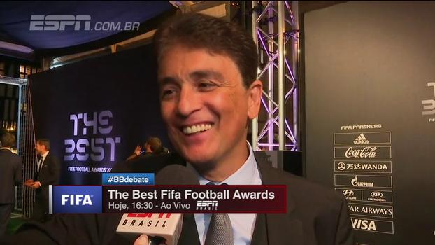 Bebeto marca presença em premiação da Fifa e fala sobre seleção: 'Tite resgatou autoestima de todos'