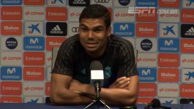 """Casemiro: """"Mbappé é um grande jogador, mas temos o trio BBC, que pode fazer muito estrago'"""