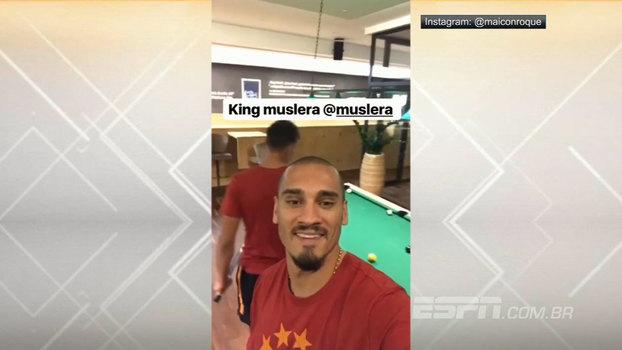 Ex-São Paulo, Maicon curte a vida na Turquia e joga sinuca com o goleiro Muslera