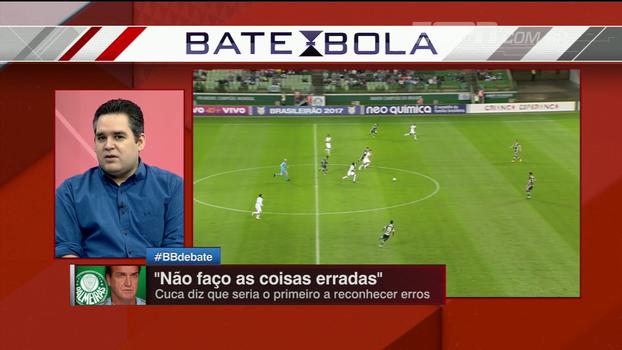Bertozzi sobre momento de Cuca no Palmeiras: 'Tem que se colocar na linha de frente'