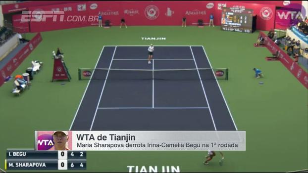Assista aos lances da vitória de Maria Sharapova sobre Irina-Camelia Begu por 2 sets a 0!