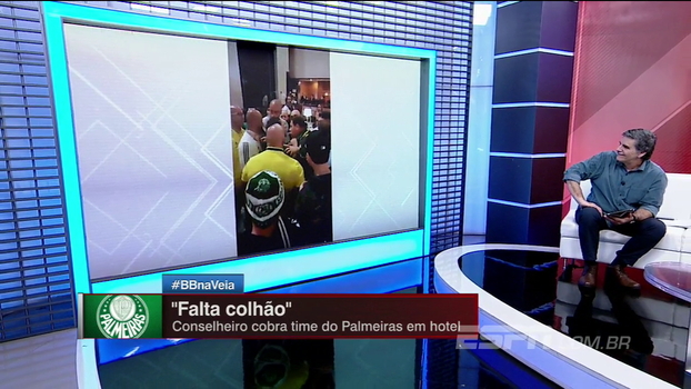 Vídeo de conselheiro cobrando elenco do Palmeiras deixa João 'Canalha' indignado: 'Isso é falta de caráter'