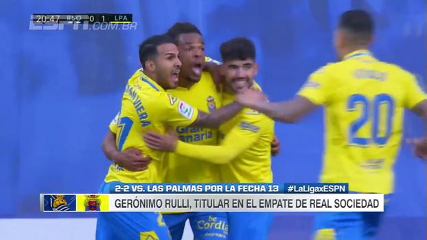 Em casa, Real Sociedad cede empate ao Las Palmas e perde chance de entrar na zona para a Liga Europa