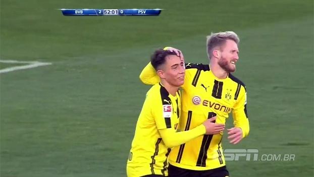 Dortmund perde pênalti, mas atropela o PSV em amistoso neste sábado: 4 a 1
