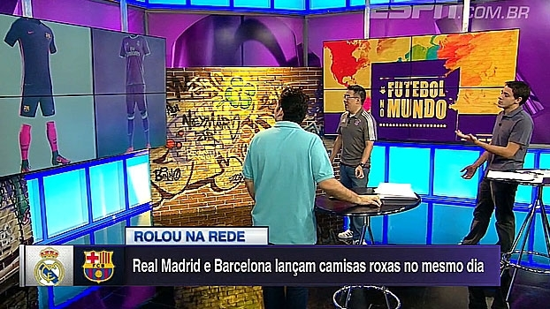 No mesmo dia, Barcelona e Real lançam uniformes quase iguais