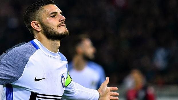 Icardi faz 2 gols, Internazionale vence Cagliari fora de casa e toma a liderança do Napoli
