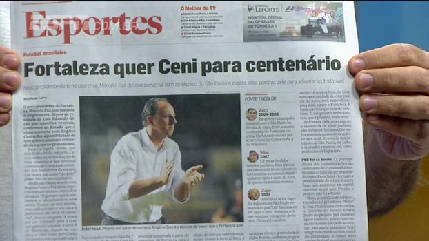 Fortaleza quer Rogério Ceni no comando e aguarda resposta; 'Bom para os dois', diz Mario Marra