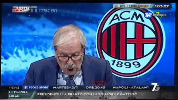 Jornalista vai à loucura com gol do Milan sobre a Inter