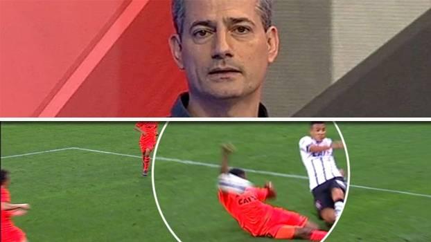 Salvio concorda com pênalti a favor do Corinthians: 'Toca no braço'