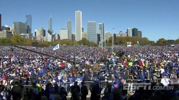 Multidão sem fim! Veja imagens da festa do título mágico do Chicago Cubs na MLB