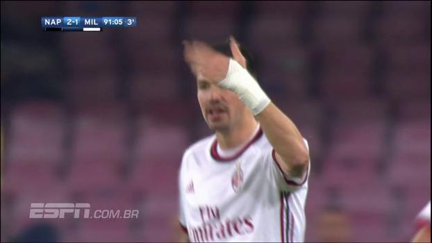 GOL do Milan! Romagnoli pega de primeira, vence Reina e desconta contra o Napoli