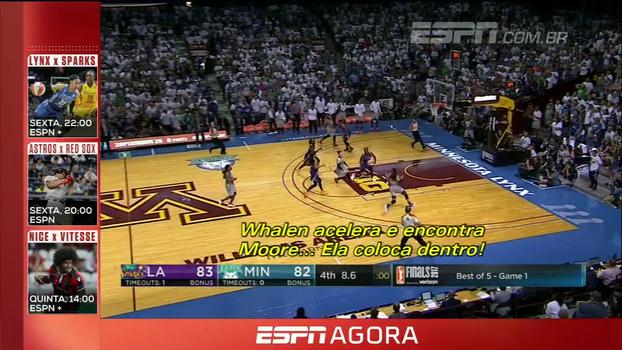Final emocionante! Sparks vencem Lynx no primeiro jogo da final da WNBA com reviravoltas nos últimos segundos