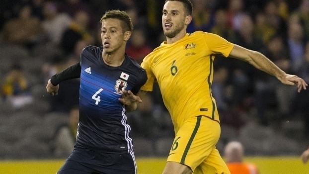 Veja os gols do empate entre Austrália e Japão por 1 a 1