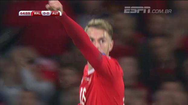 Confira os melhores momentos de Pais de Gales 1 x 0 Áustria
