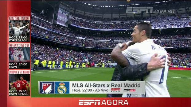 Audio Cup, MLS All Star x Real Madrid; confira a programação desta quarta-feira nos canais ESPN