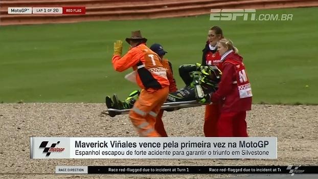 Prova da MotoGP na Inglaterra é marcada por acidente impressionante