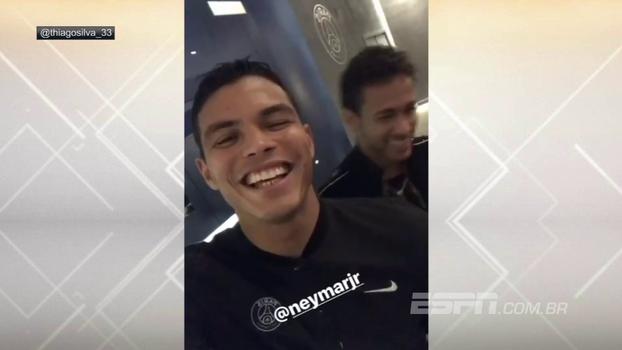 Neymar, Thiago Silva e Daniel Alves vivem 'momento romântico' em show de Dilsinho no PSG