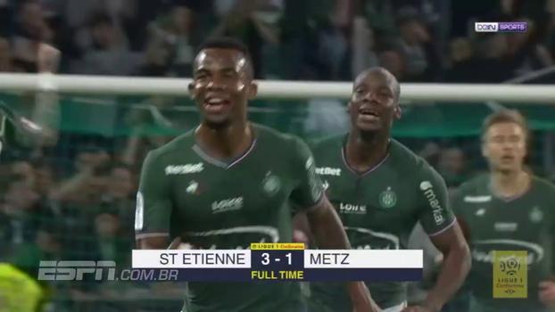 Saint-Étienne faz três no segundo tempo e vence o Metz de virada no Campeonato Francês