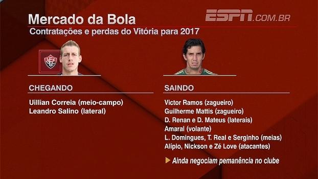 Marinho se aproxima do Flamengo; veja quem está chegando e saindo do Vitória