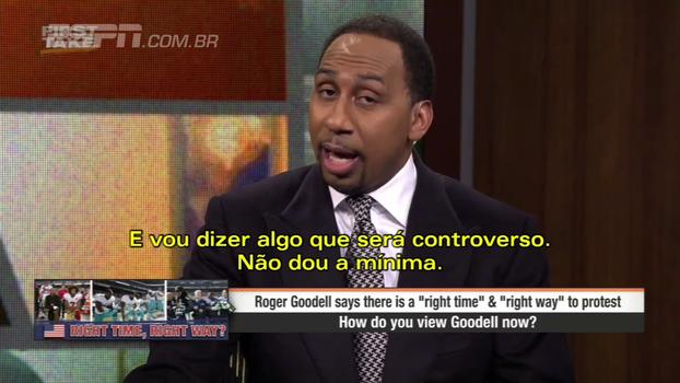 Comentarista da ESPN detona comissário da NFL: 'Nenhum branco tem o direito de dizer a um negro quando ele deve protestar'