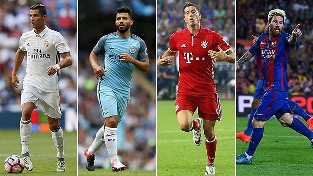 Messi, CR7, Aguero e mais! Veja gols dos principais candidatos a artilheiro da Champions 2016/17