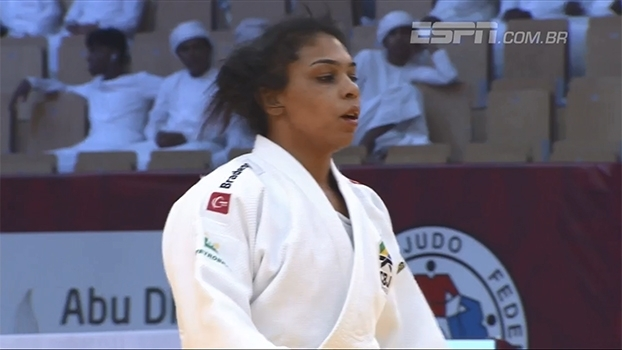 No Grand Prix de Abu Dhabi, Samanta Soares conquista o bronze na categoria pesado