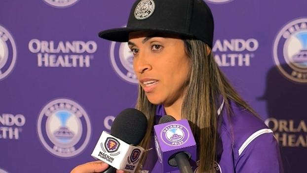Nova jogadora do Orlando, Marta agradece carinho de norte-americanos e diz que fez a escolha certa