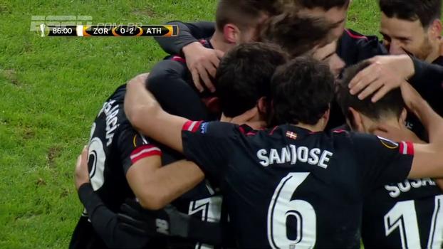 Assista aos gols da vitória do Athletic Bilbao sobre o Zorya Luhansk por 2 a 0!