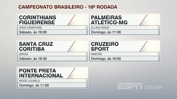 Confira o 'palpitão' do Antero para os jogos da 16ª rodada do Brasileiro
