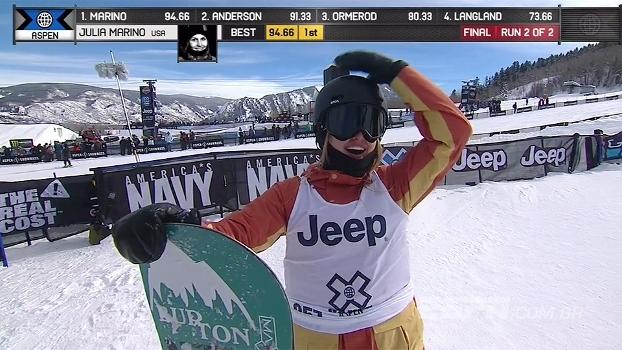 Novata Julia Marino ganha ouro no Snowboard Slopestyle e conquista 2ª medalha nos X Games