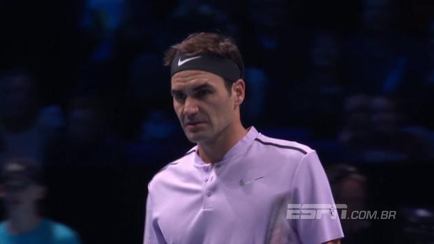 Em busca do sétimo título, Federer vence Sock na estreia do ATP Finals