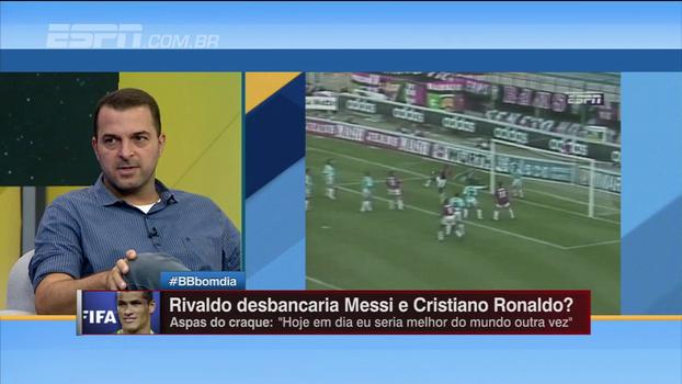 Zé Elias e Rafa Oliveira discordam sobre se Rivaldo desbancaria Messi