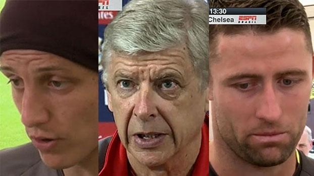 Wenger, David Luiz e Cahill falam de preparação e expectativa para a final da Copa da Inglaterra; veja