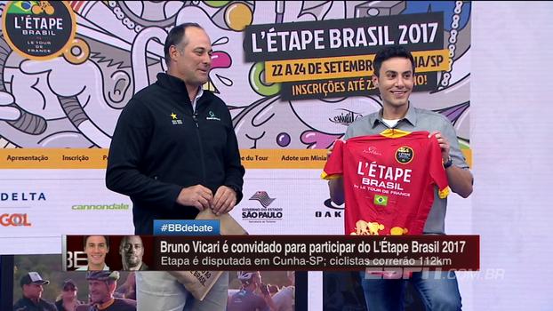 Medalhista Olímpico 'invade' BB Debate e convida Bruno Vicari para participar do L'Étape Brasil 2017